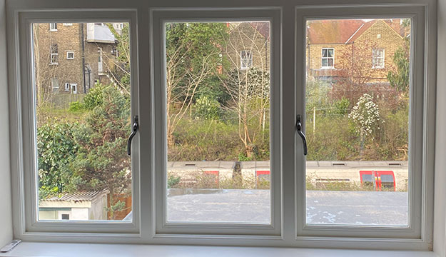 white timber windows