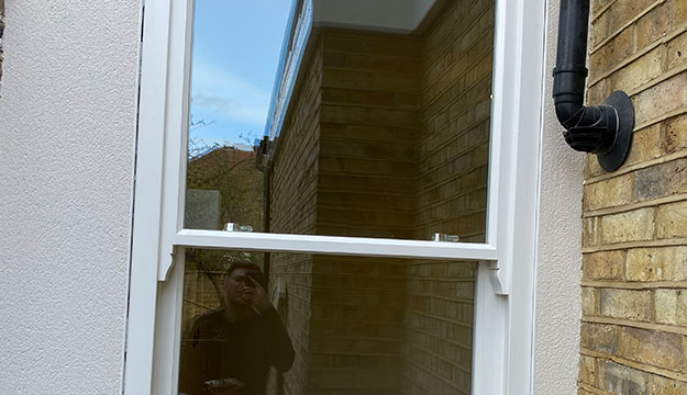 newly fitted timber windows